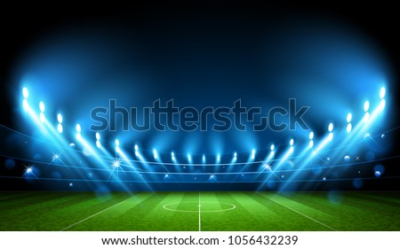 Public Buildings. Football Arena. World Cup Vector illustration