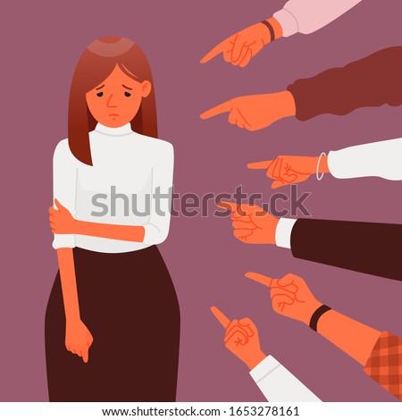public censure or blame victim