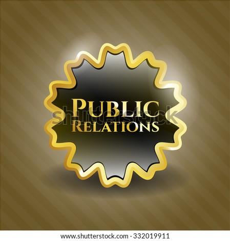 Public Relations gold emblem