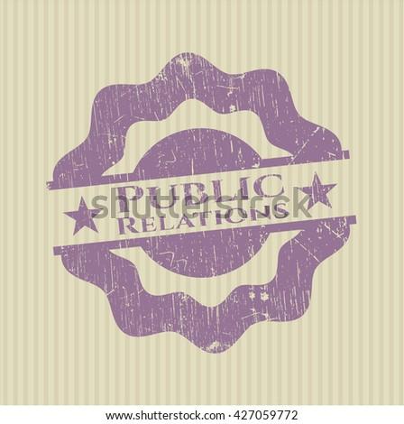 Public Relations grunge stamp