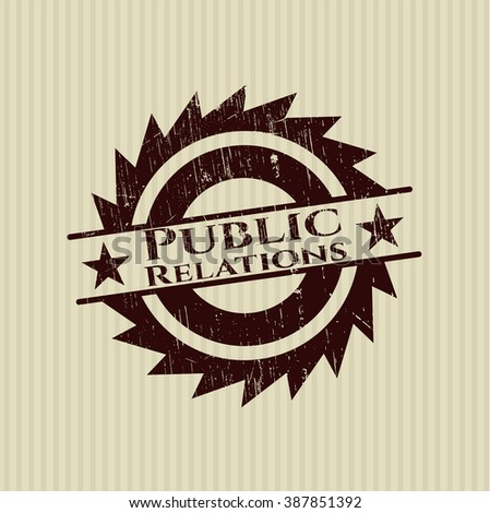 Public Relations rubber grunge seal