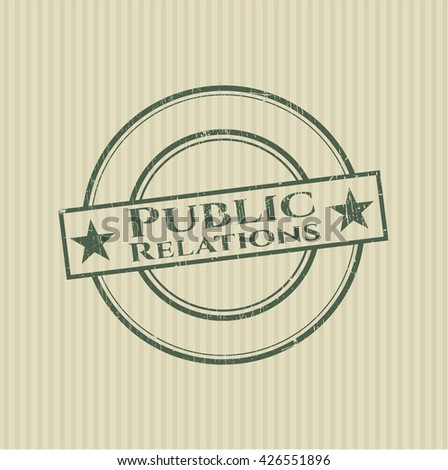 Public Relations rubber stamp