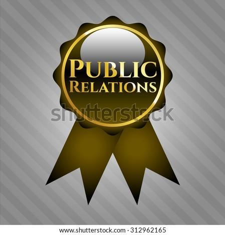 Public Relations shiny ribbon
