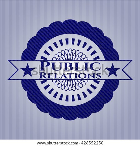 Public Relations with denim texture