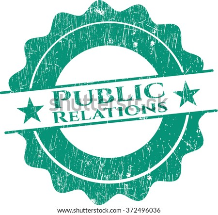 Public Relations with rubber seal texture