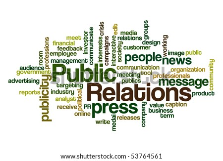 Public Relations - Word Cloud