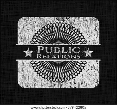 Public Relations written with chalkboard texture
