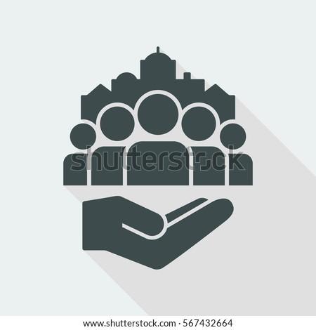 Public services for citizens - Vector icon Stock photo ©