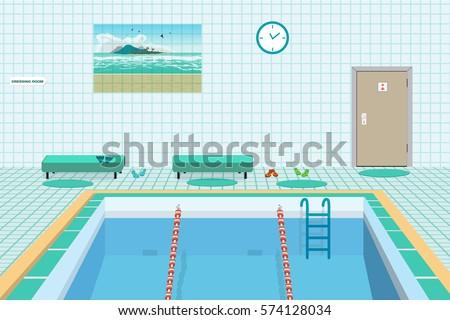 public swimming pool inside