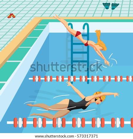 Girl Swim Images