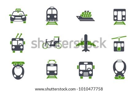public transport simple vector