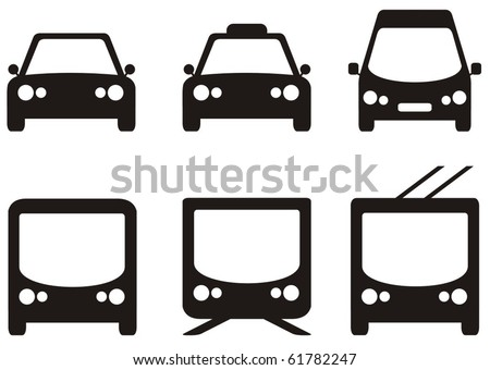 public transport vector icons