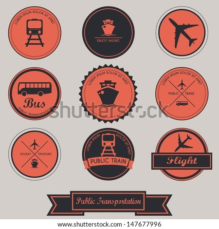 Public Transportation Label Design
