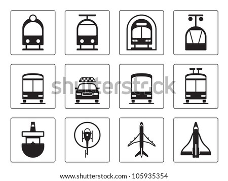 Public vehicles - vector illustration