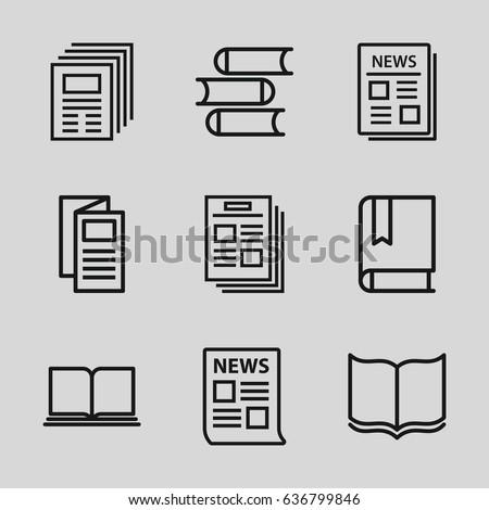 Publication icons set.