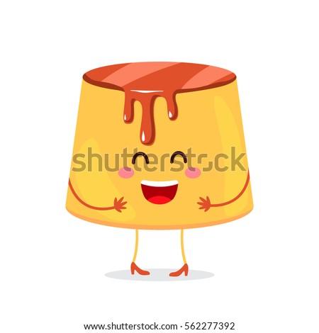 pudding custard with caramel