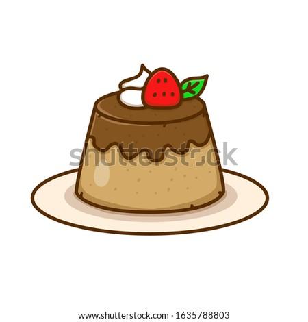 pudding vector illustration