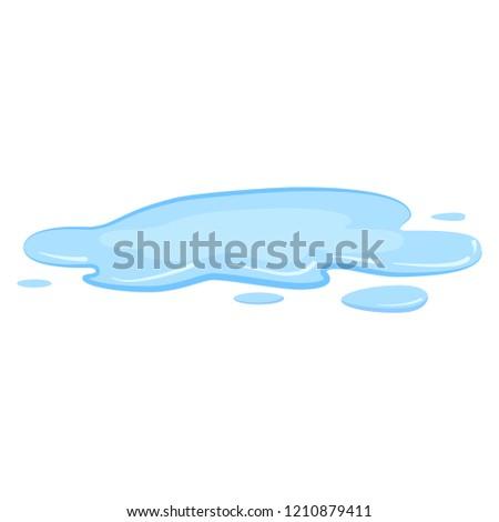 puddle  liquid  vector  cartoon