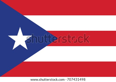 Puerto Rico Flag. Vector.