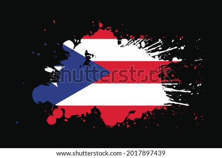 Puerto Rico Flag With Grunge Effect Design. It will be used t-shirt graphics, print, poster and Background. Foto stock ©