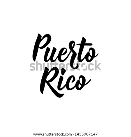 Puerto Rico. Lettering. Vector illustration. Perfect design for greeting cards, posters, T-shirts, banners print invitations Foto stock ©