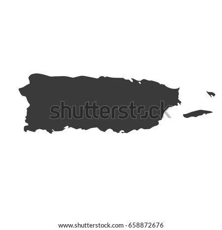 Puerto Rico map vector. / Puerto Rico map.