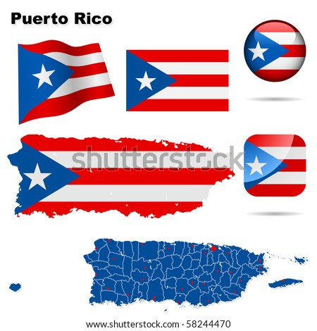 puerto rico vector set