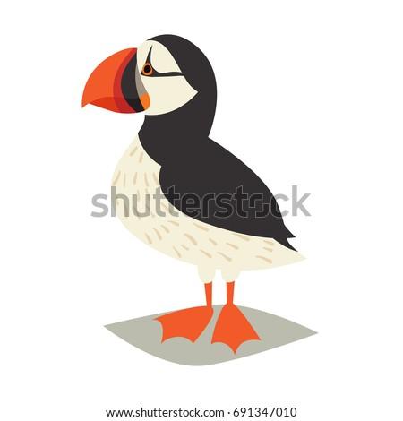 puffin bird icon cartoon