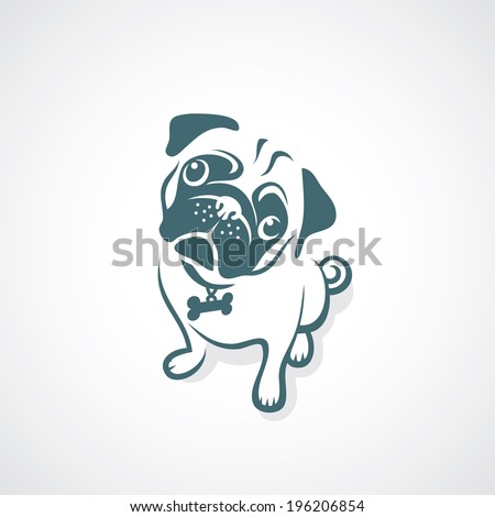 pug dog   vector illustration