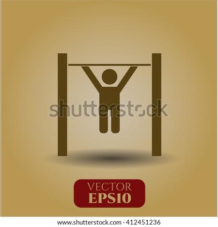Pull Up vector symbol
