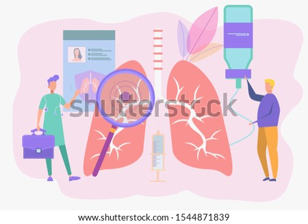 Pulmonology. The concept of examination and treatment of respiratory organs. Checking the organs of internal organs for the presence of diseases, diseases or problems. Cancer, pneumonia, bronchitis.