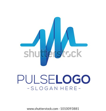 Pulse and Health Logo Vector