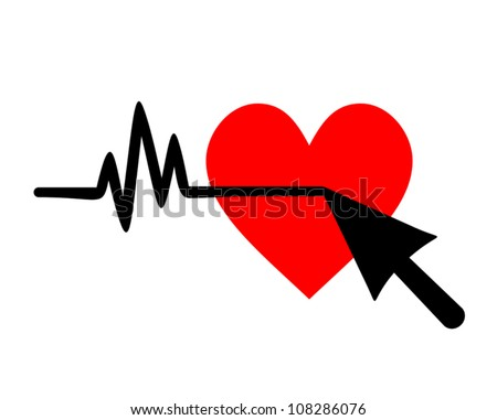 Pulse heart cursor