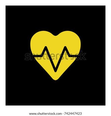 pulse heart icon vector Foto stock ©