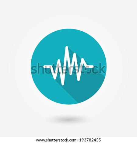 pulse heart rate vector icon in