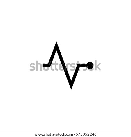 Pulse icon in trendy flat style isolated on background. Pulse icon page symbol for your web site design Pulse icon logo, app, UI. Pulse icon Vector illustration, EPS10.