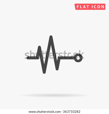 Pulse Icon Vector. Simple flat symbol. Perfect Black pictogram illustration on white background.