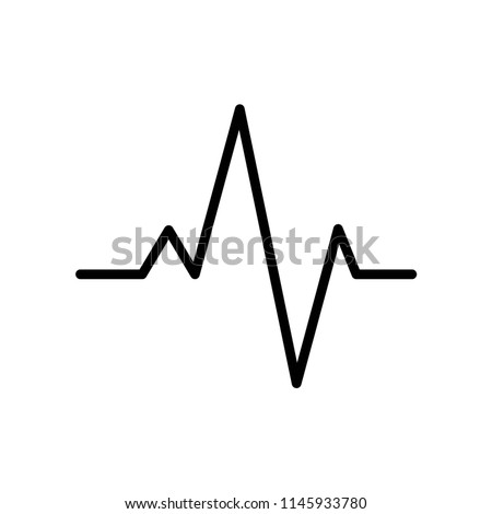 Pulse line icon vector icon. Simple element illustration. Pulse line symbol design. Can be used for web and mobile.