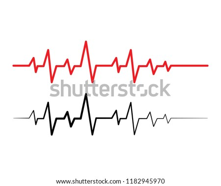 Pulse line ilustration vector template