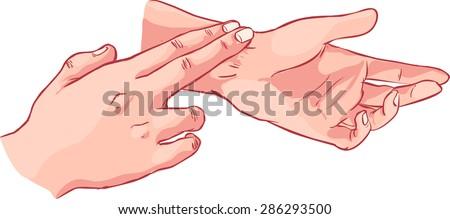 pulse measurement Foto stock ©