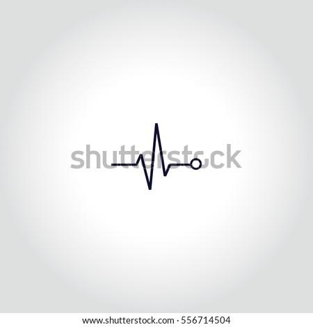 Pulse Vector Icon.