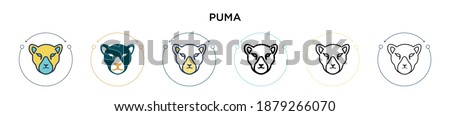 puma icon in filled  thin line