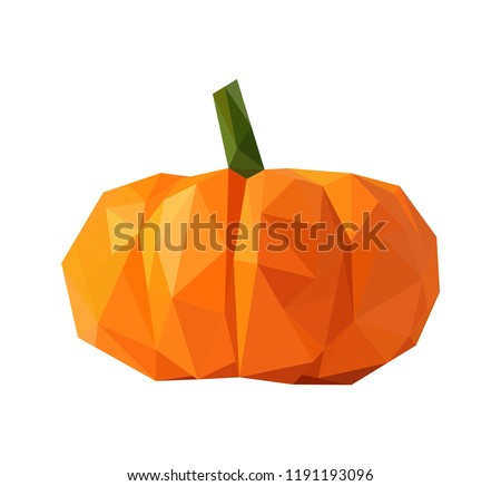 pumkin in low poly style