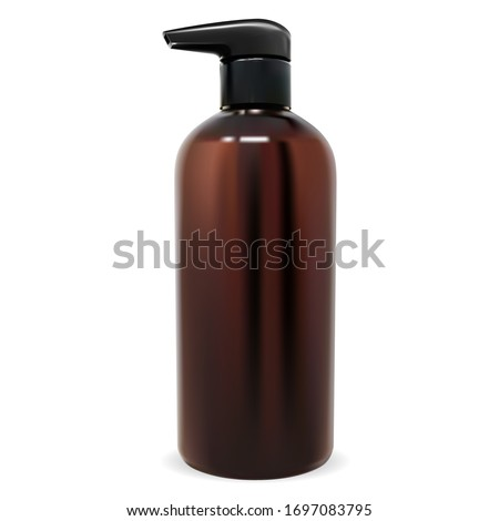pump bottle mockup brown