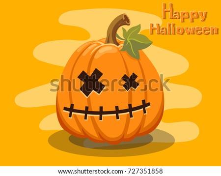 Cartoon vector pumpkin faces download free vector art stock pumpkin cartoon halloween on background thecheapjerseys Choice Image