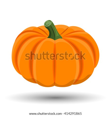 pumpkin colorful icon