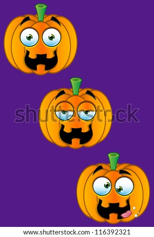 Pumpkin Faces - Set 3