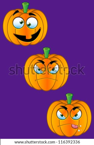 Pumpkin Faces - Set 2