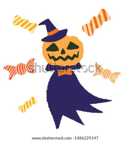 pumpkin head and candy