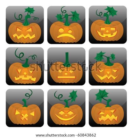 Pumpkin icon set